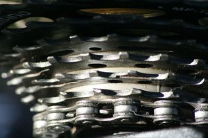 Clean bicycle sprocket image