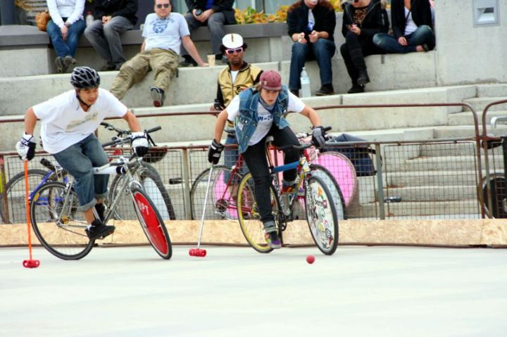 Bike Polo in Waterloo Square Image