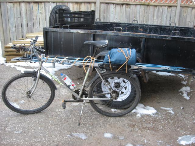 bicycle ski carrier