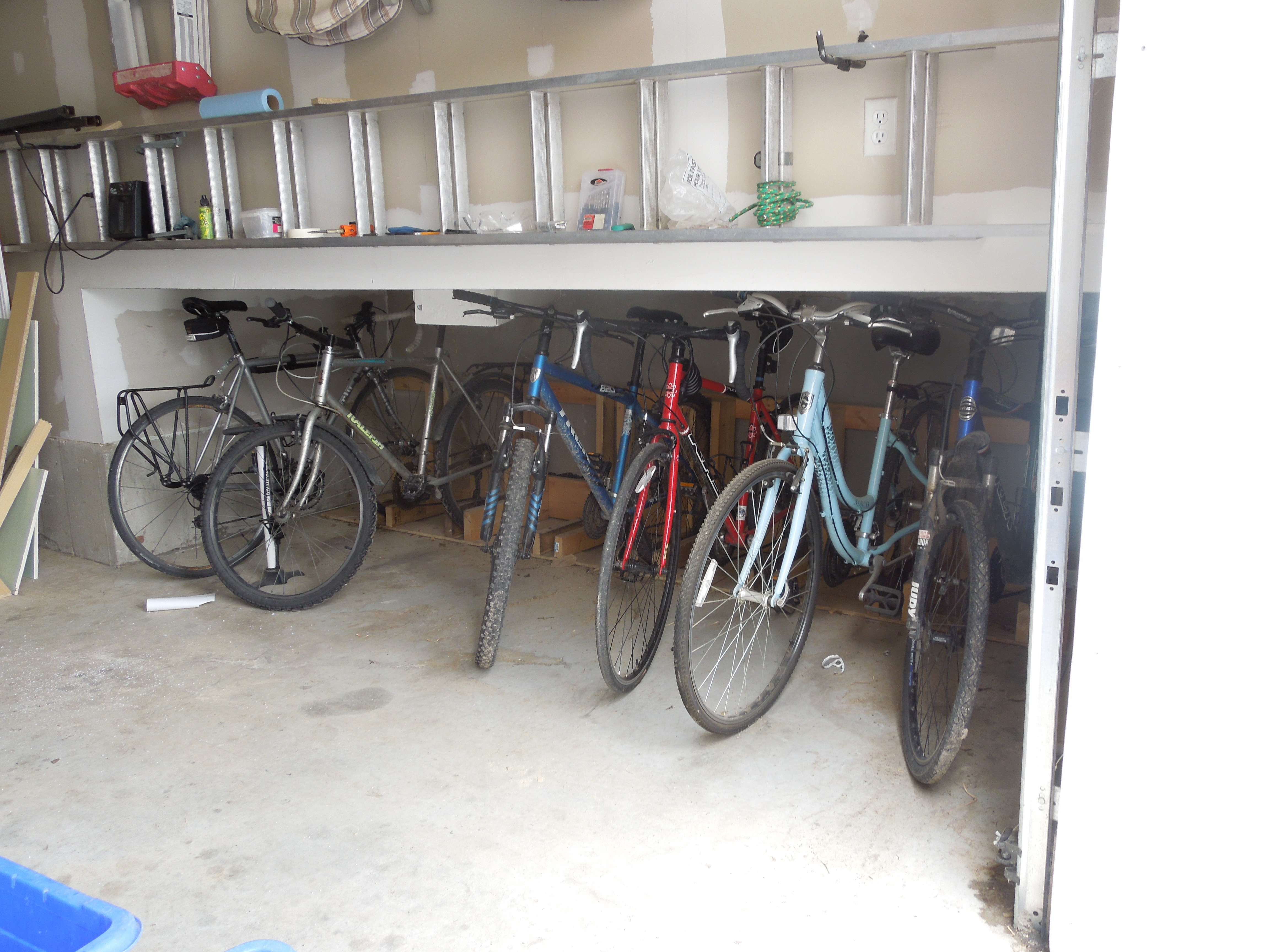 The Main Floor Of My House Sits Very High, So I Wanted To Make Use Of That  Height, For The Bike Storage