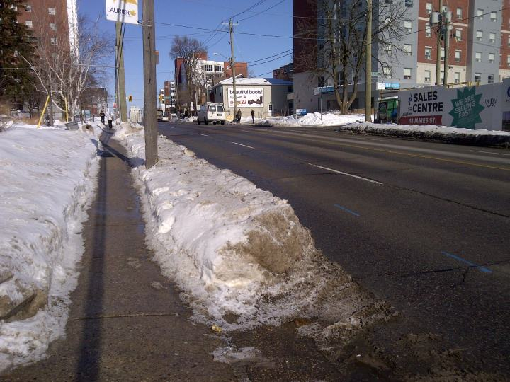King Street cleared to bare pavement
