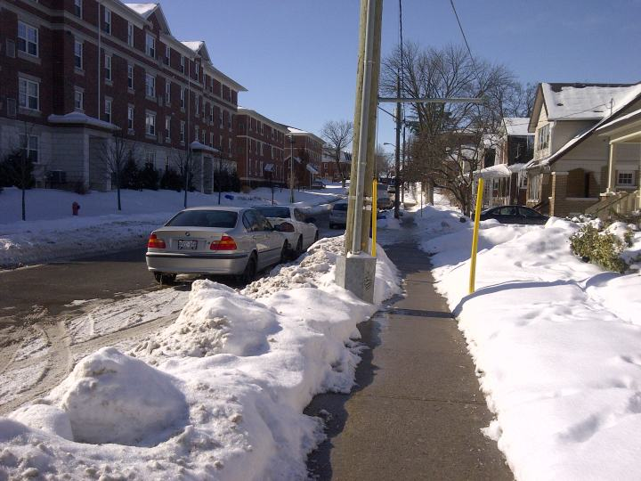 Ezra Avenue cleared to bare pavement